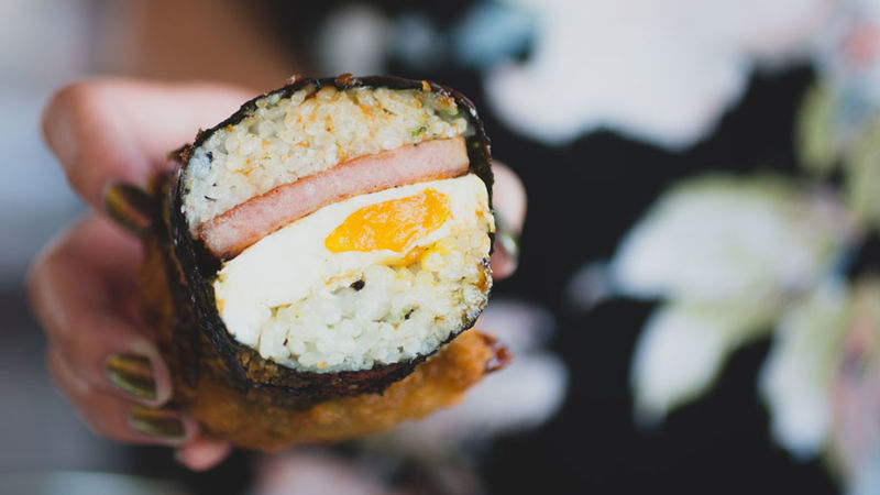 Fried Spam Sushi