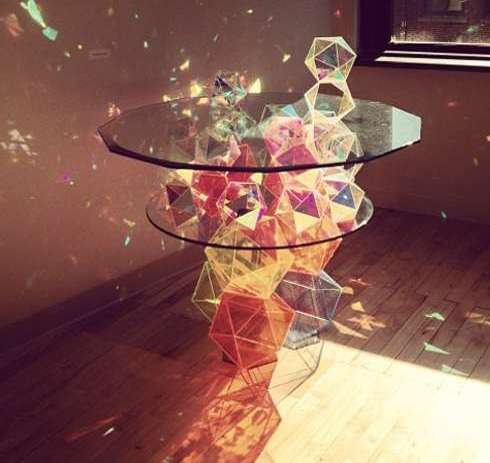 Glittering Crystal Tables