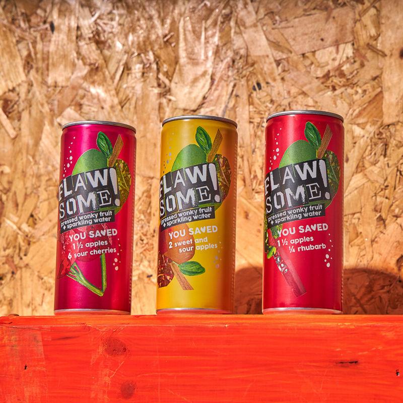 Repurposed Sparkling Fruit Drinks