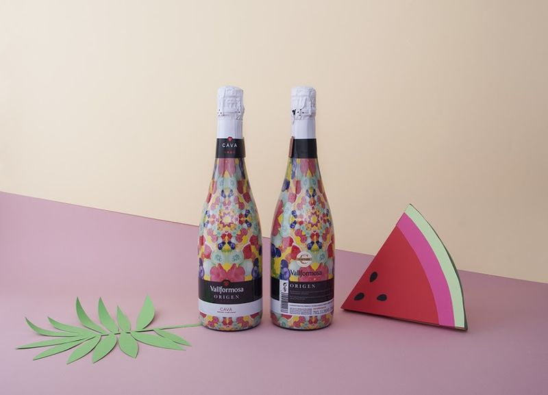Summery Sparkling Wine Bottles