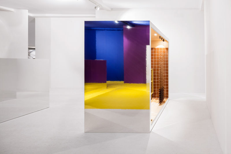 Geometric Color-Blocked Pavilions