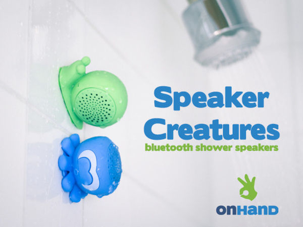 Suctioning Shower Speakers