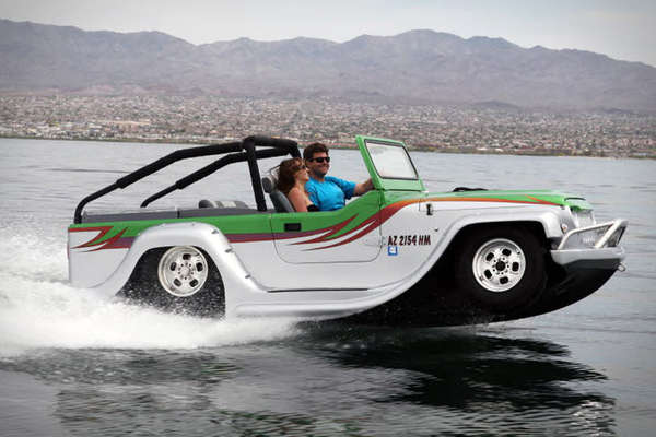 Aquatic Car-Shaped Boats