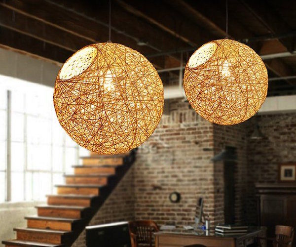 Nest Inspired Lamps Spherical Bine Pendant Lamp