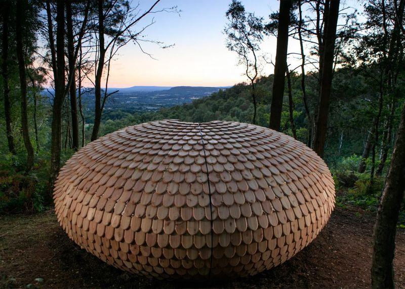 Shingled Spherical Pavilions