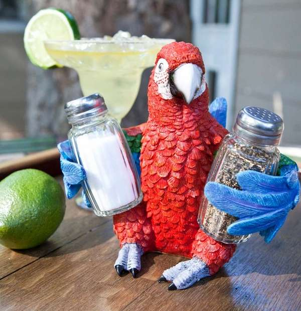Exotic Parrot Spice Holders