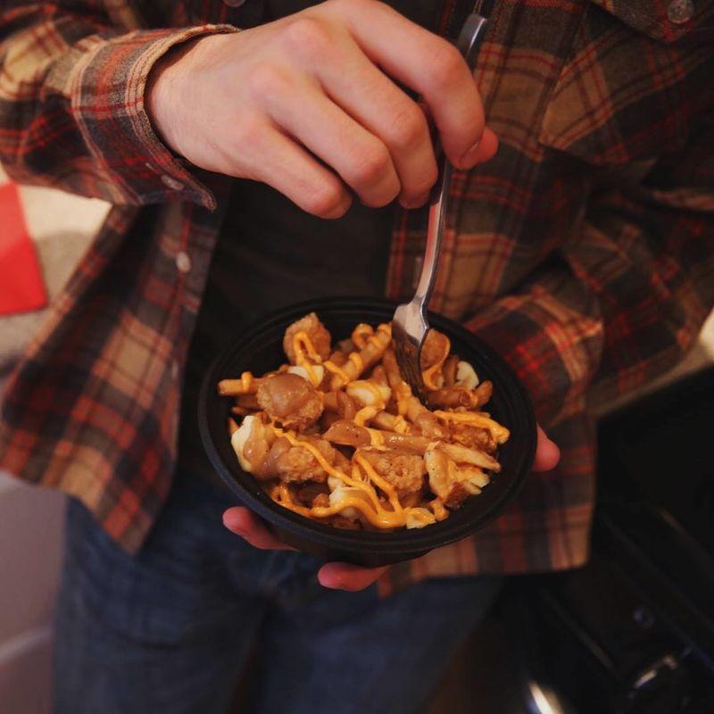 Butter Chicken Gravy Poutine - Honest Cooking