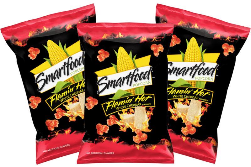 Fiery Cheesy Popcorn Snacks