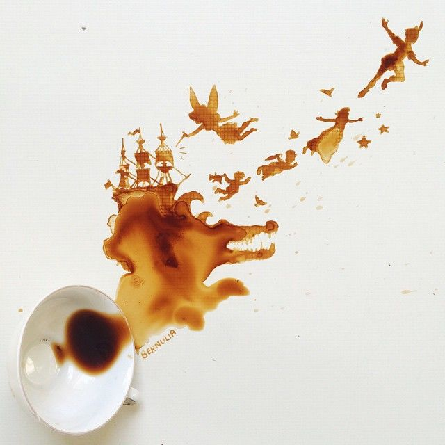 Spilled Coffee Art