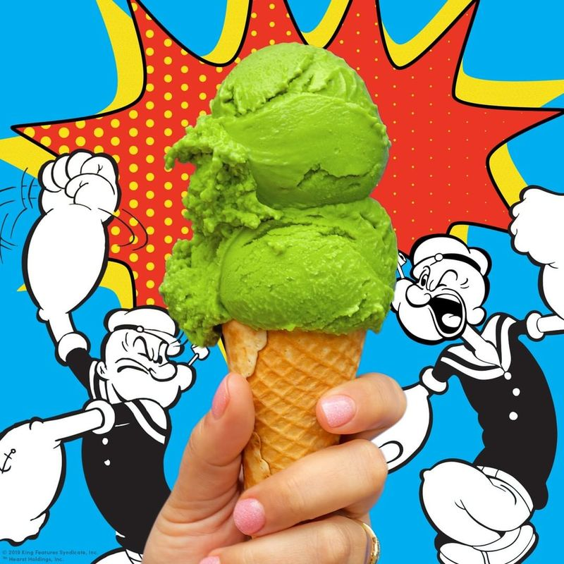 Savory Spinach Ice Creams