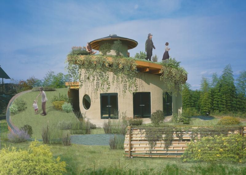 Spiraling Greenery-Topped Homes