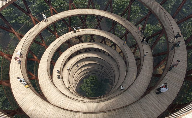 Spiralling Treetop Walkways