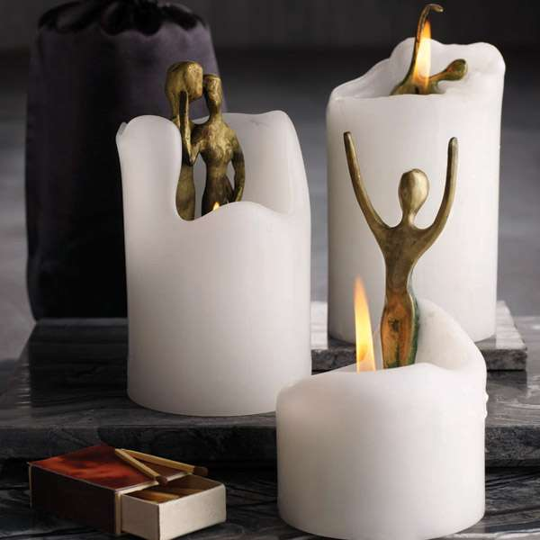 Candles With Hidden Sculptures