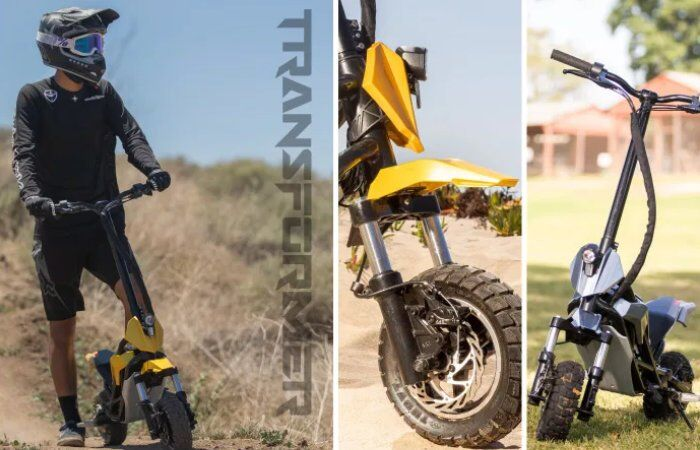 Motorbike-Inspired Electric Scooters