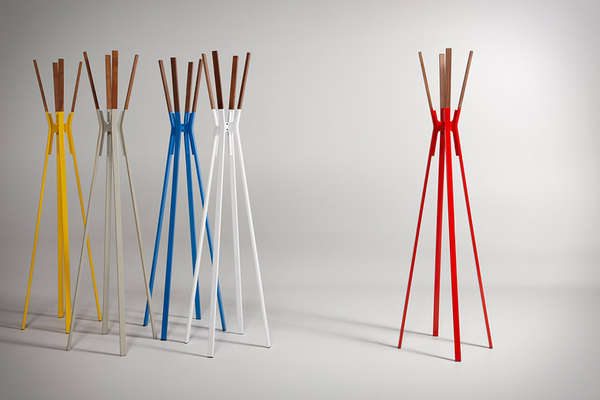 Vibrant Minimalist Hangers Splash Coat Rack