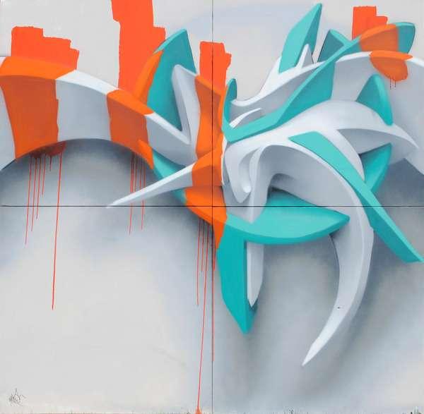 Dripping 3-D Graffiti