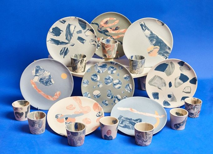 Pressure-Pounded Dishware