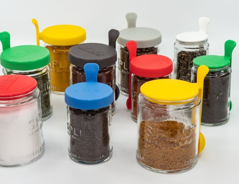 Utensil-Equipped Jar Lids