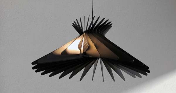 Fanned Flat-Pack Lamps