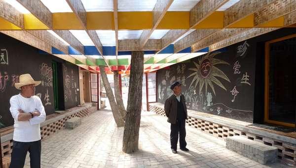Communal Chalkboard Courtyards