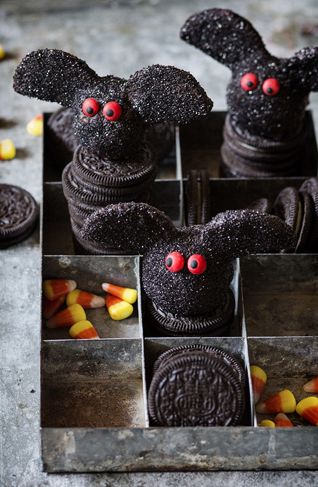 Festive Bat-Shaped Truffles