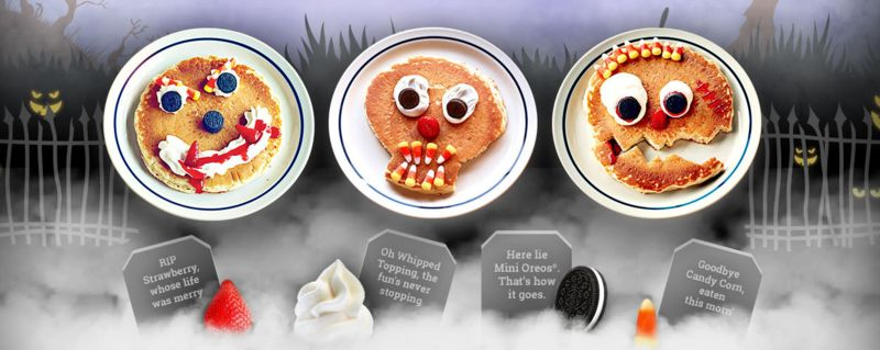 Ghoulish Pancake Designs