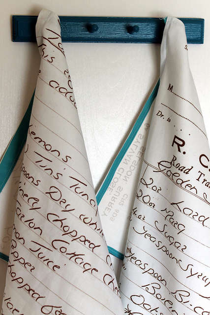 Recipe-Transfered Towels