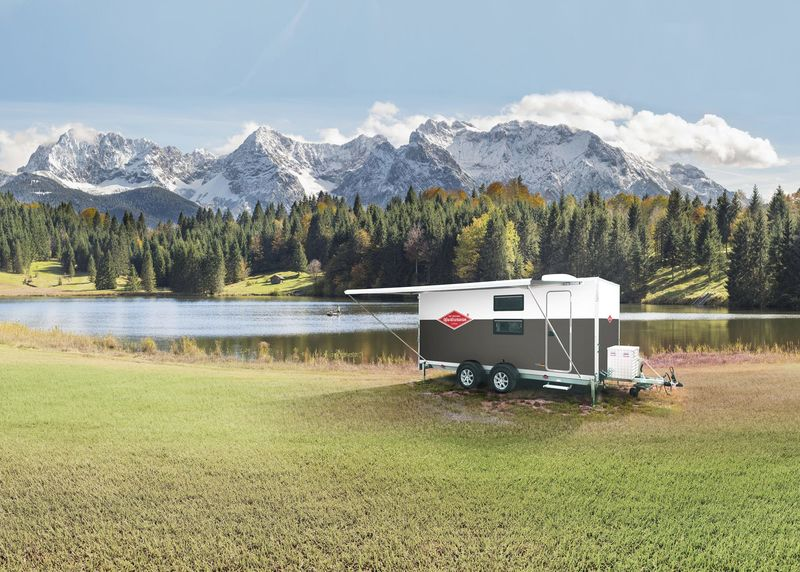 Motorcycle-Storing Camping Trailers