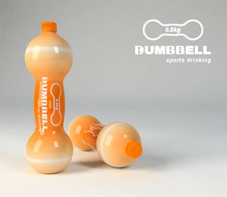Sports Bottle Dumbbells