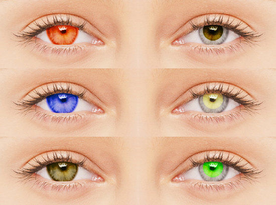 Colorful Sun-Blocking Contacts : sports contact lenses