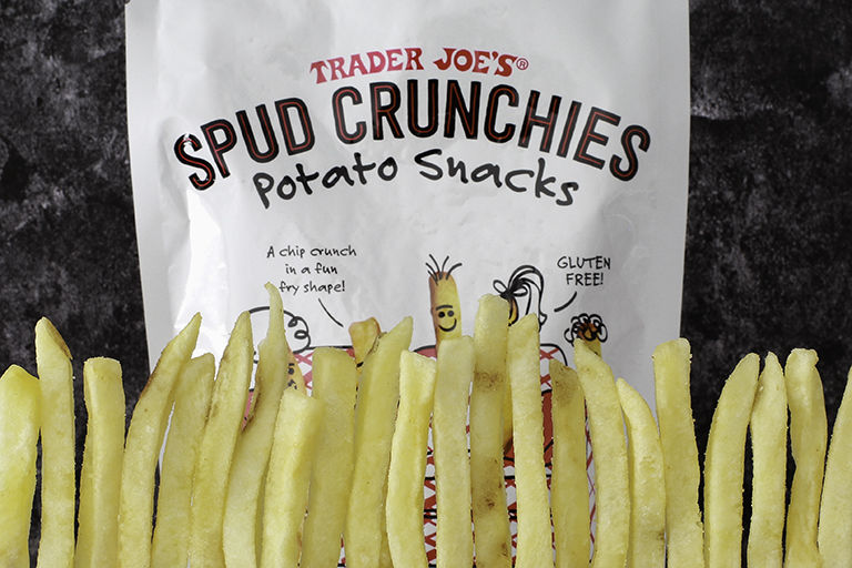 Fry-Shaped Potato Snacks
