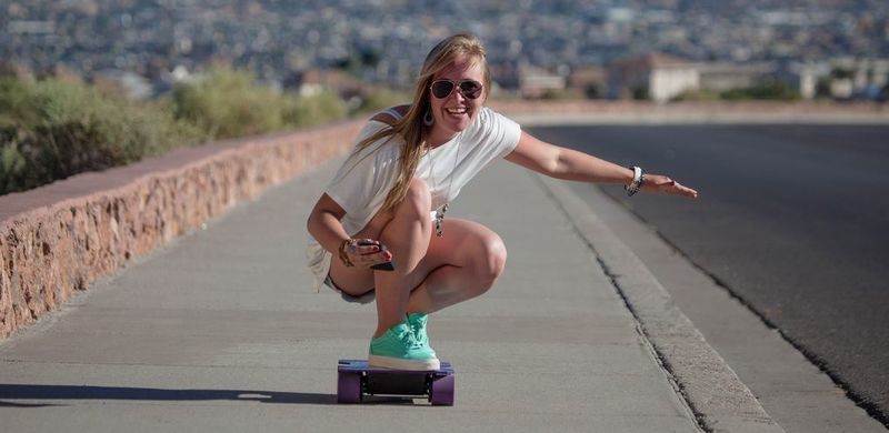 Squared-Shaped Electric Skateboards