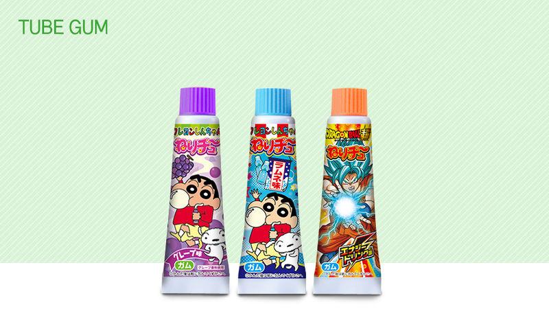 Tube-Shaped Gum Packaging