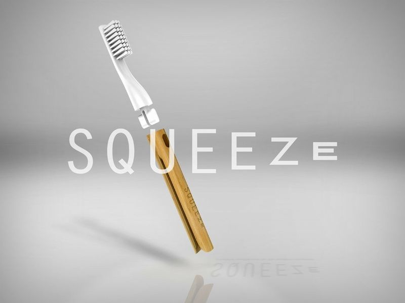 Toothpaste-Squeezing Toothbrushes