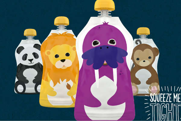 Cartoony Baby Food Branding