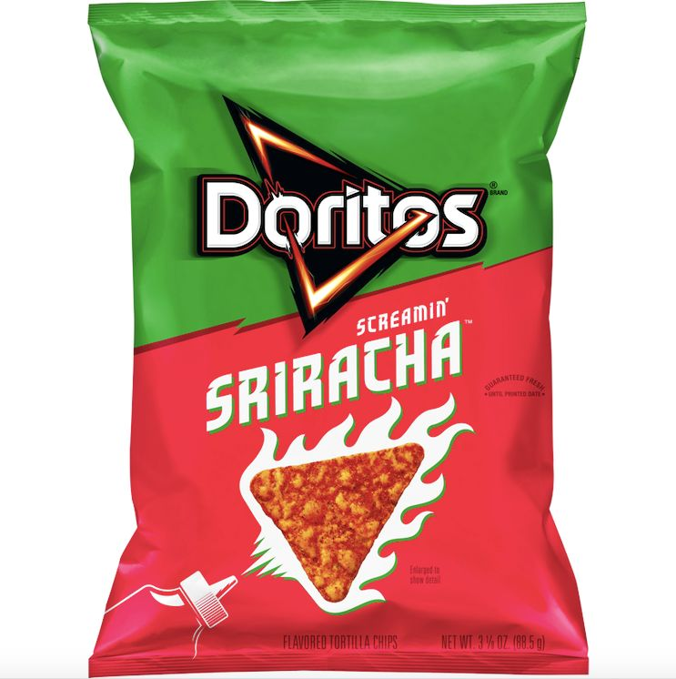 Hot Sauce-Coated Chips