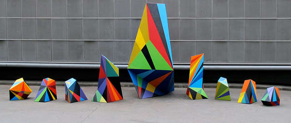 Vibrantly Blocky Installations