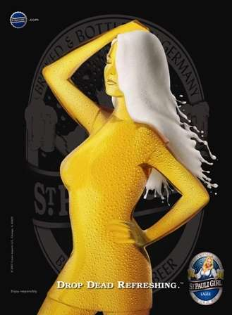 St. Pauli Morphs Famous Model into Beer Girl