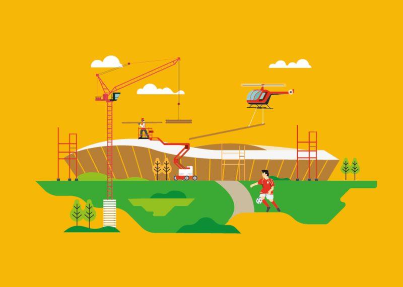 Sustainable Stadium Illustrations
