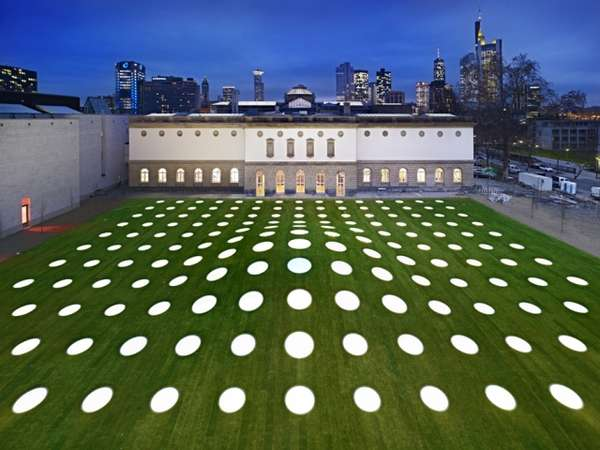 Illuminated Polka-Dot Courtyards
