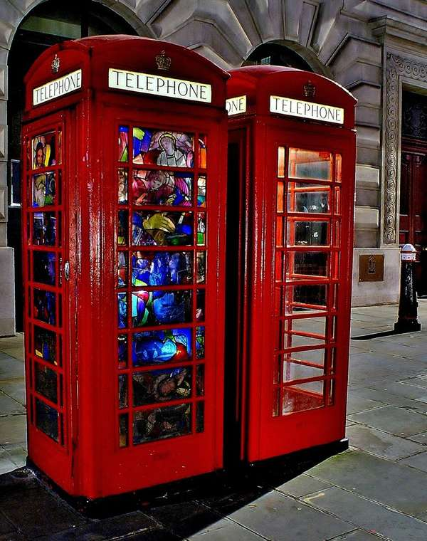 Religious Iconography Phone Booths