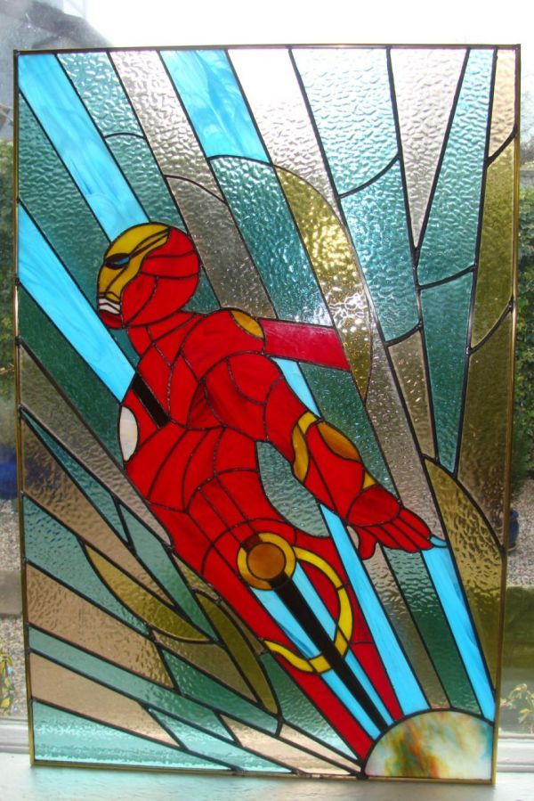 Superhero Stained Glass Windows