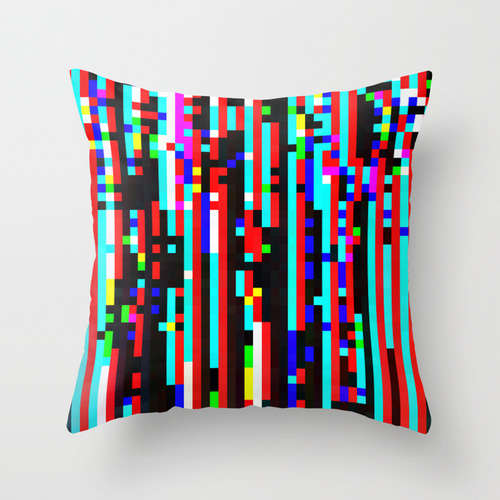 Brightly Pixelated Pillows