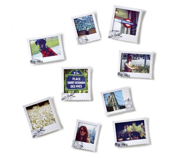 Postage Polaroid Picture Frames