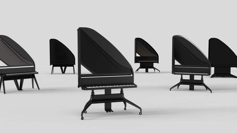 Elegant Upright Grand Pianos
