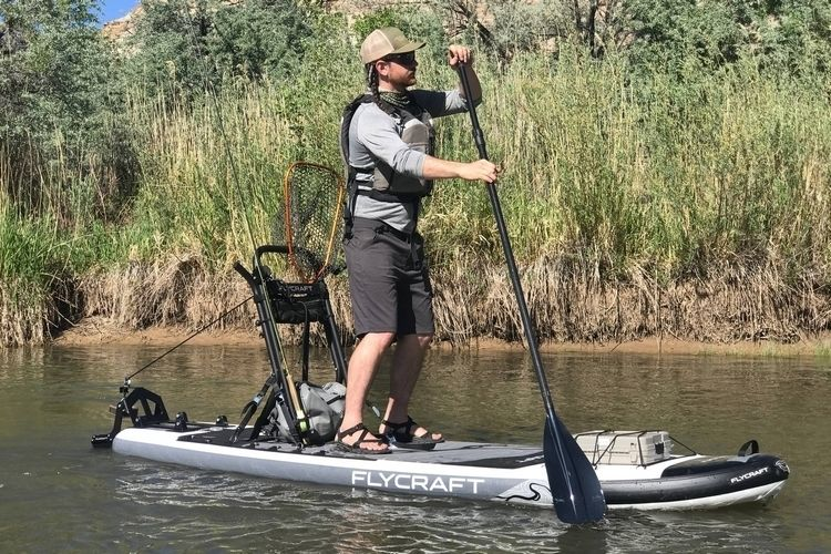 Balanced Inflatable Fishing Boards : Stand-Up Paddle Board