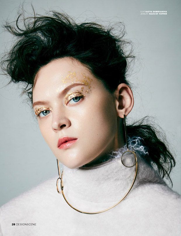 Gold-Speckled Beauty Portraits