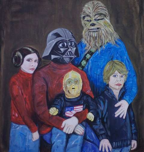 Awkward Sci-Fi Family Art