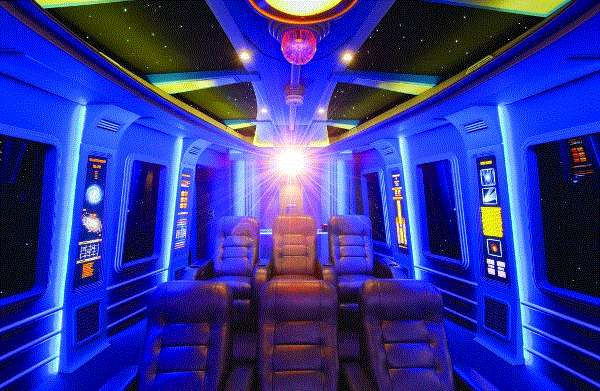 Sci fi themed rooms star wars home theater for Sci fi decor