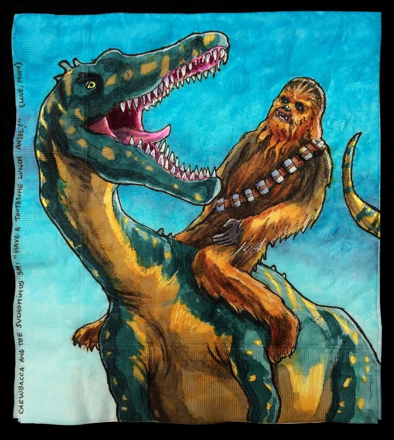 Intergalactic Dinosaur Napkins